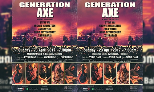 A Night of Guitars Asia Tour 2017 Live Concert in Bangkok