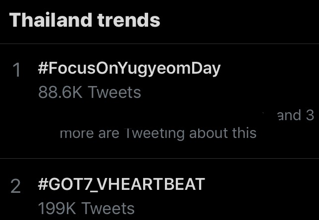#FocusOnYugyeomDay #GOT7_VHEARTBEAT Global Artist Top 12 GOT7