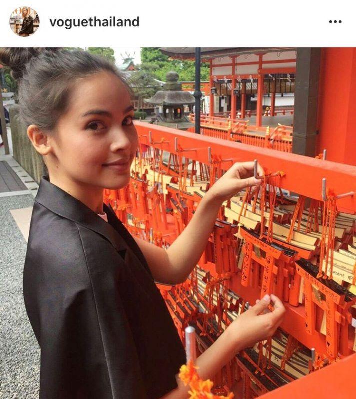 ญาญ่า อุรัสยา แฟชั่นโชว์ แบรนด์ดัง Louis Vuitton Vogue Thailand ถ่ายแบบ เกียวโต ข่าว ดารา วันนี้