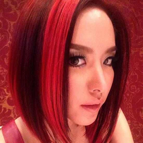 ดารา ดาราผมแดง สะดุดตา บันเทิง ดาราปรับลุค เปลี่ยนลุค แฟชั่น ทำสีผม