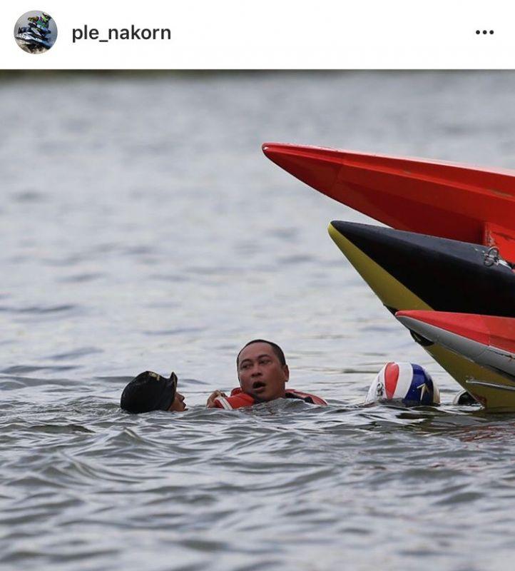 จูน เปิ้ล เรือ อุบัติเหตุ แข่ง