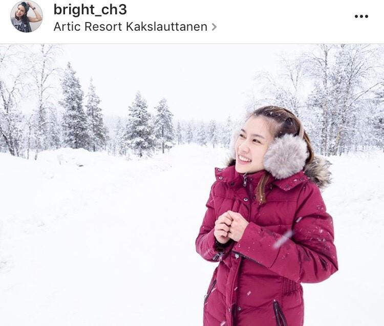 โต๋ ไบรท์ รับลมหนาว ฟินแลนด์ คู่หวาน วงการบันเทิง นักร้องหนุ่ม