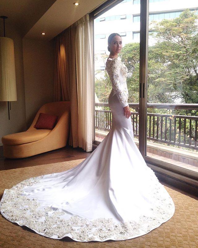 ชุดแต่งงาน แฟชั่น เจ้าสาว ชุดราตรี งานแต่งงานดารา บันเทิง นักแสดง  ชุดเจ้าสาว