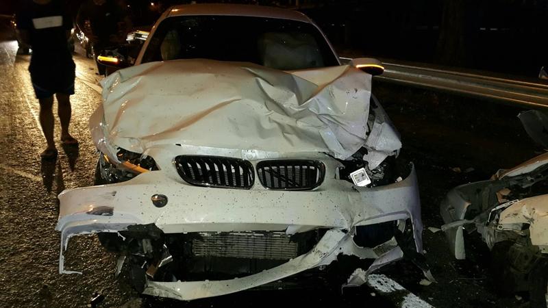 """ตร. สั่งตรวจแอลกฮอล์ ลูกชาย """"โหน่งชะชะช่า"""" หลังขับรถหรูพุ่งชนเก๋ง (มีผู้เสียชีวิต)"""