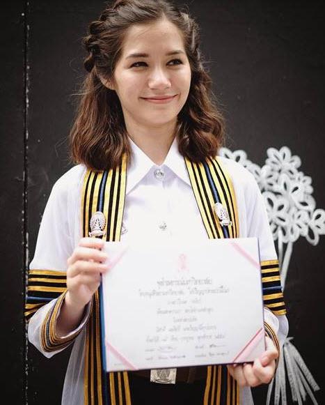 วี เรียนจบ นิเทศจุฬา แอมมี่ ปริญญาตรี นิเทศศาสตร์ จุฬาลงกรณ์มหาวิทยาลัย บอททอมบลูส์ ลัลลาเบล สถานะ