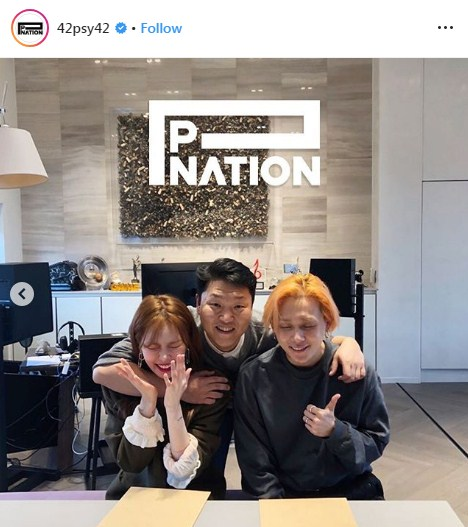 HyunA EDawn  เซ็นสัญญา เข้าสังกัด PSY