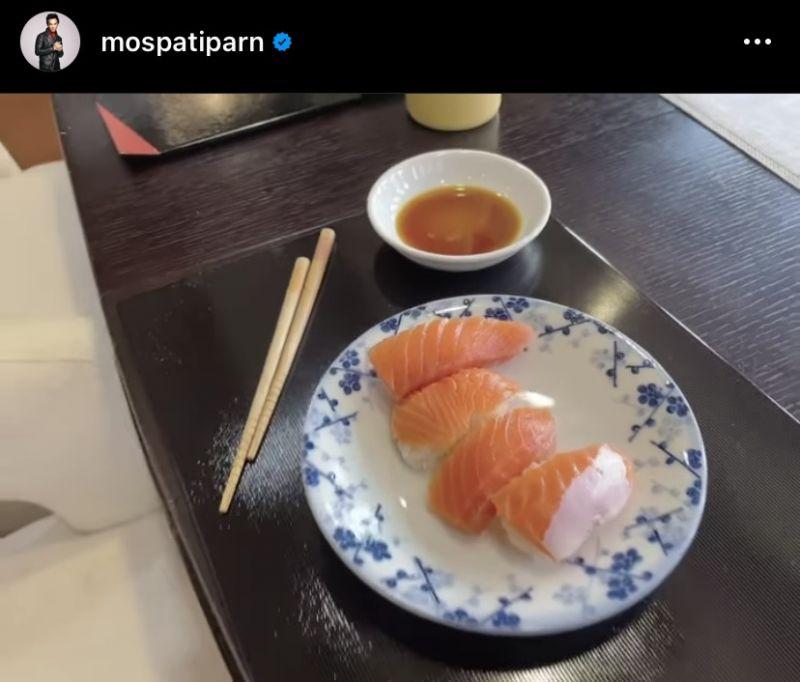 มอส ปฏิภาณ น้องโสน น้องสวรรค์ ซูชิ อาหารญี่ปุ่น