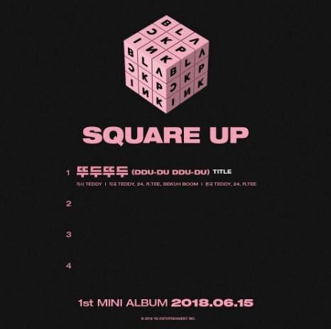 Yang Hyun Suk  BLACKPINK SQUARE UP อัลบั้ม ใหม่
