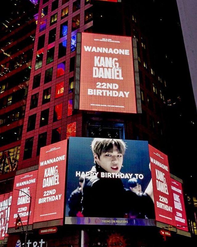ไอดอล Billboard Times Square Kang Daniel
