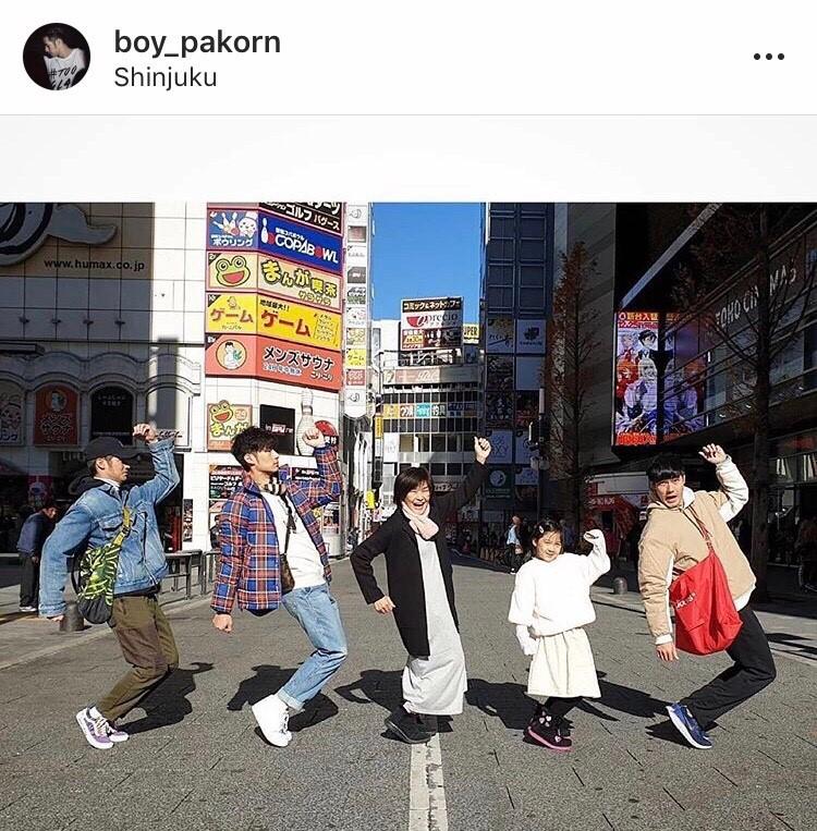 ครอบครัว ฉัตรบริรักษ์ เที่ยว เกาหลี ญี่ปุ่น ส่งท้ายปี