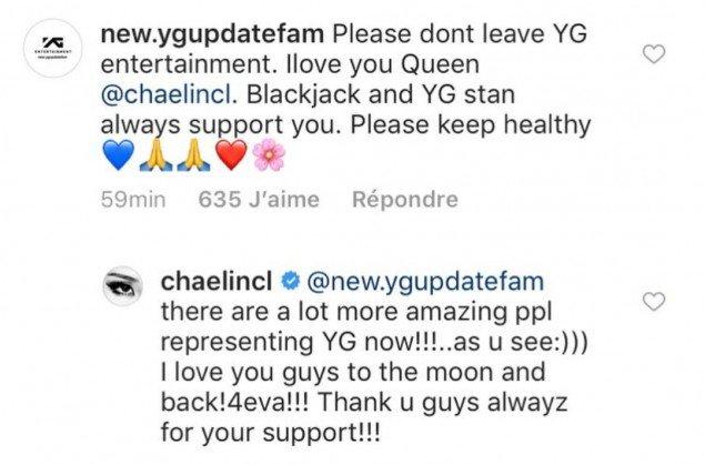 CL YG ค่าย เปลี่ยนค่าย ย้าย