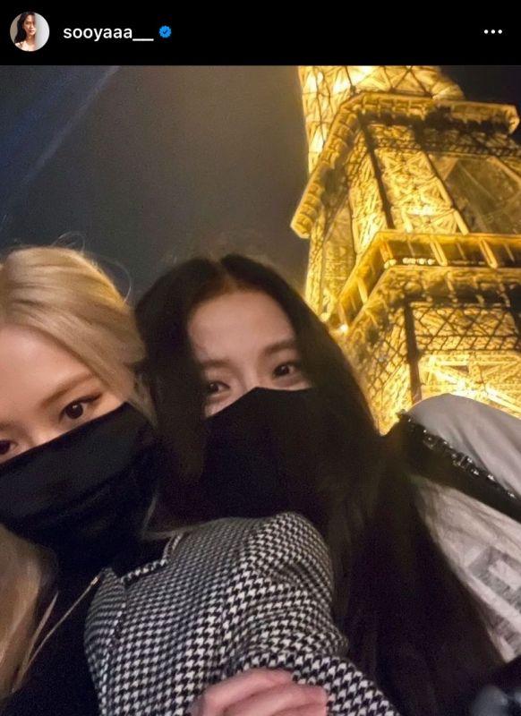 Jisoo Rosé BLACKPINK PARIS FASHIONWEEK