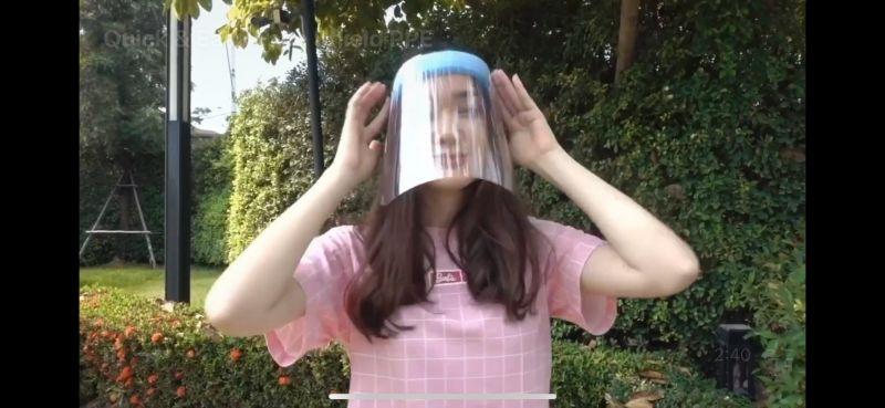 เดียร์น่า คลิปสอน ทำ Face Shield