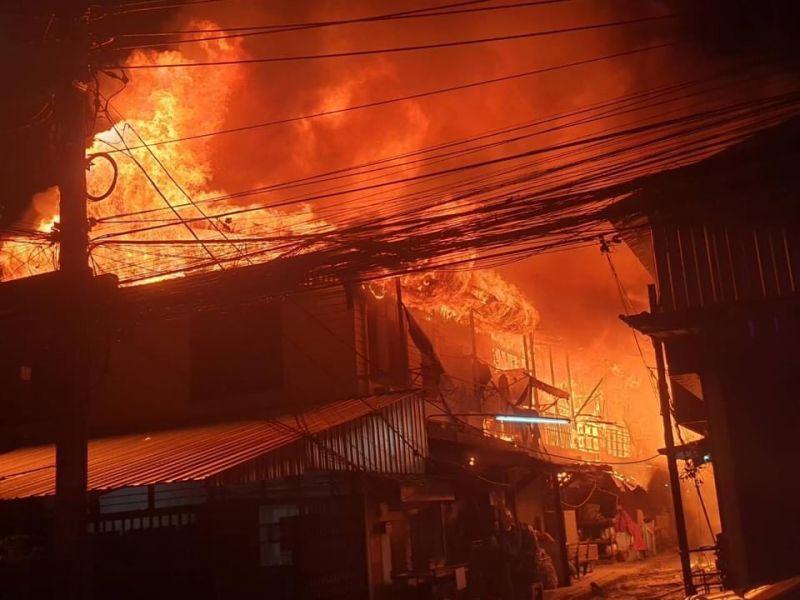 ดอนเมือง ไฟไหม้