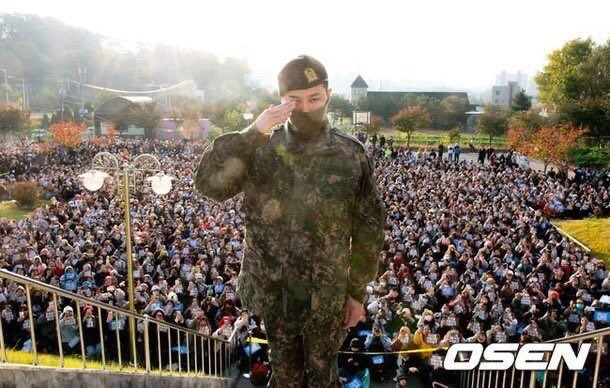 มิตรภาพ TOP Gdragon วันปลดทหาร
