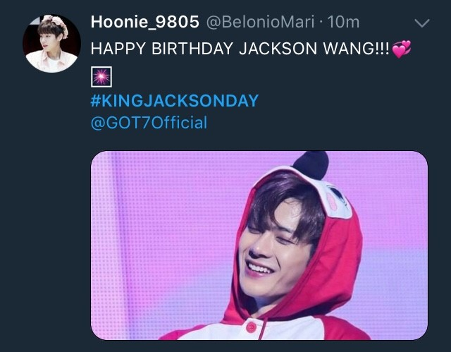 วันเกิด jackson got7 kingjacksonday