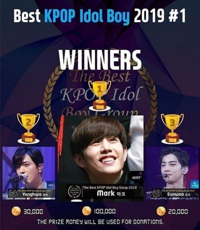 มาร์ค ต้วน รางวัล KPOP IDOL BOY 2019