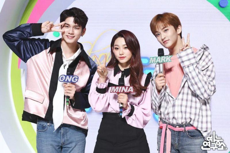 Mark วง NCT และ Mina วง Gugudan