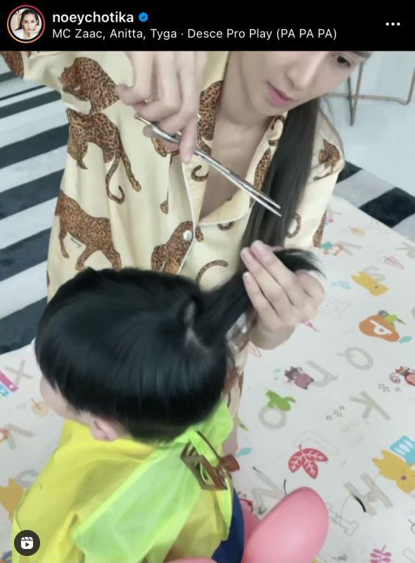 เนย โชติกา น้องอคิณ ช่างตัดผม ทายาทซุปตาร์
