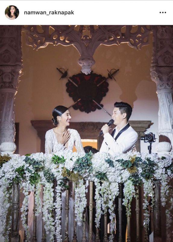 น้ำหวาน รักษ์ณภัค ดร.ณัฐวุฒิ ม้าแก้ว ครบรอบ แต่งงาน
