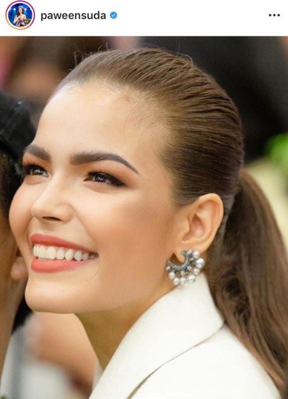 ฟ้าใส ปวีณสุดา ยอด ฟอลโลว์ อินสตาแกรม paweensuda Miss Universe 2019