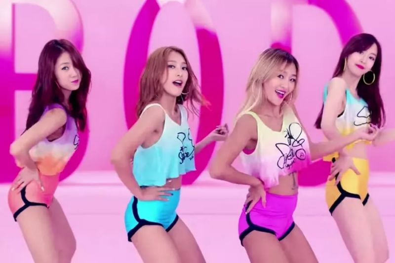 SISTAR Touch My Body K-POP เกิร์ลกรุ๊ป