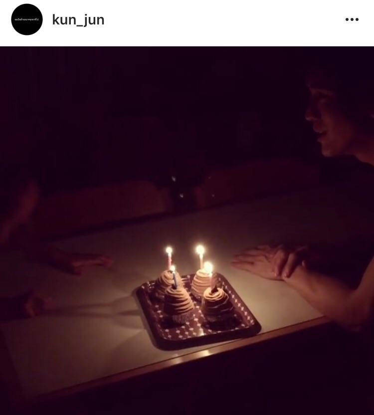 พระเอกตลอดกาล น้องคุน น้องจุน เคน เป่าเค้กวันเกิด เซอร์ไพรส์วันเกิด