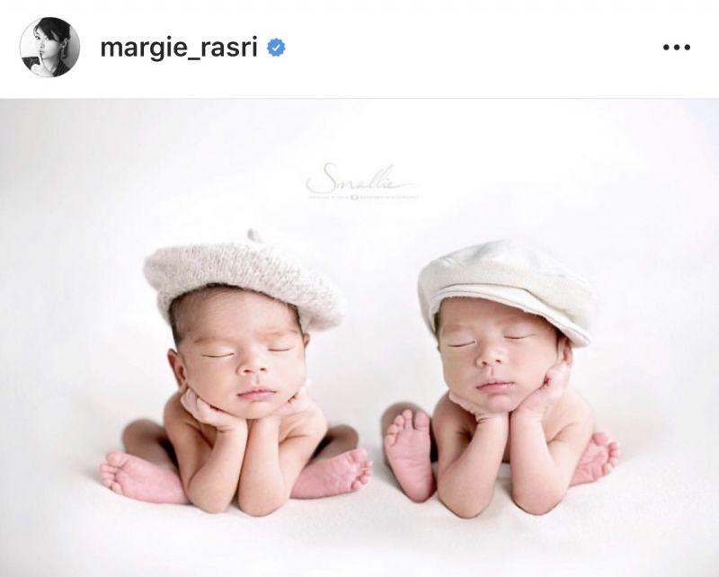 มาร์กี้ ราศรี ป๊อก ภัสสรกรณ์ ลูกแฝด น้องมีก้า มีญ่า