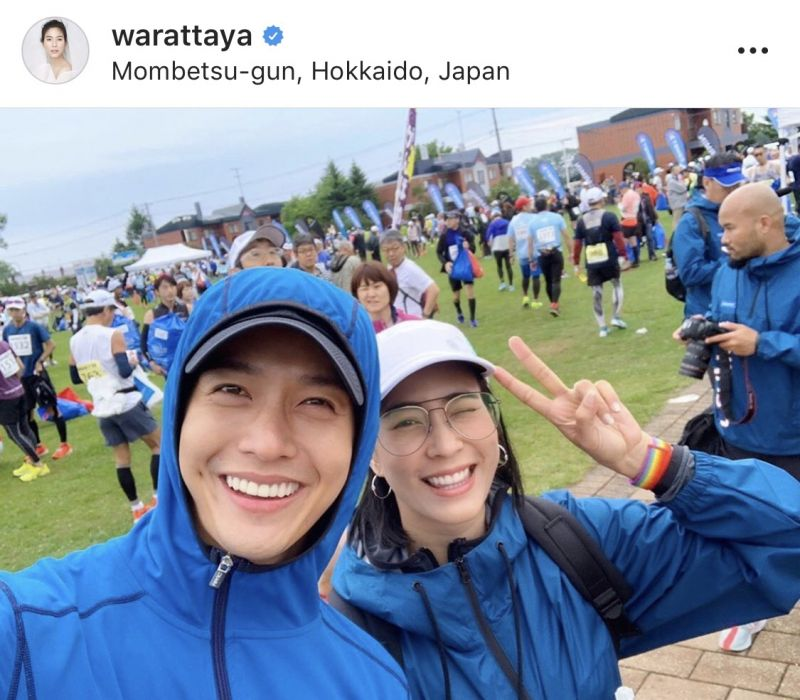 จุ๋ย วรัทยา พุฒ พุฒิชัย ให้กำลังใจ วิ่ง ญี่ปุ่น