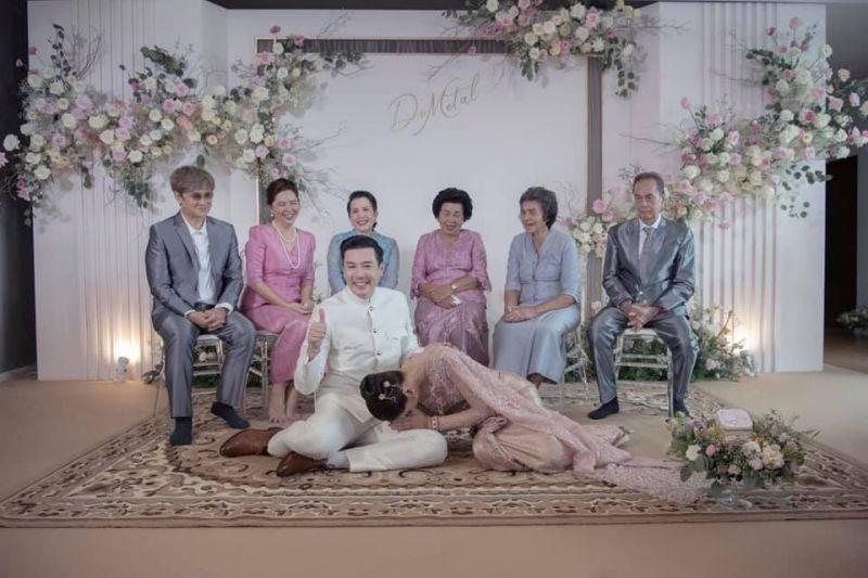 โดม เมทัล หมั้น บ่าวสาว แต่งงาน
