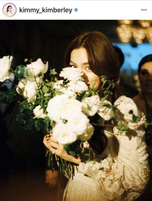 หมาก ปริญ คิมเบอร์ลี่ ช่อดอกไม้ งานแต่ง