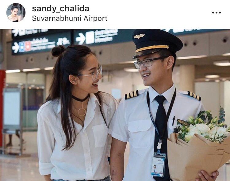 แซนดี้ ชลิดา ข่าวดี นักบิน