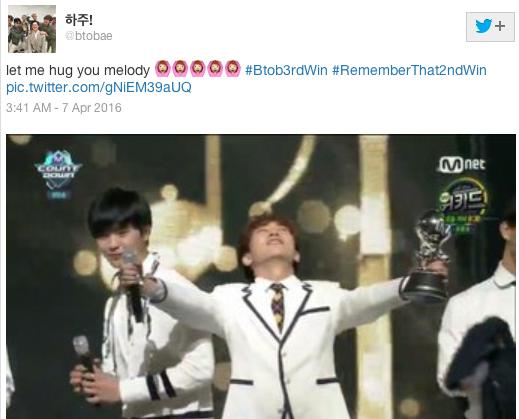 กรี๊ดสนั่น BTOB M COUNTDOWN  Melody แฮชแท็ก #REMEMBERTHAT2NDWIN บันเทิงเกาหลี ไอดอลเกาหลี ศิลปินเกาหลี
