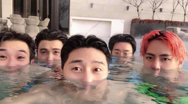 คล้ายกันมาก V BTS Park seo joon เพื่อนสนิท