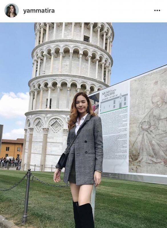 """ซูมแฟชั่น """"แยม มทิรา"""" เที่ยว อิตาลี ที่ งานนี้ หนุ่มๆ เป็นต้องเหลียว"""