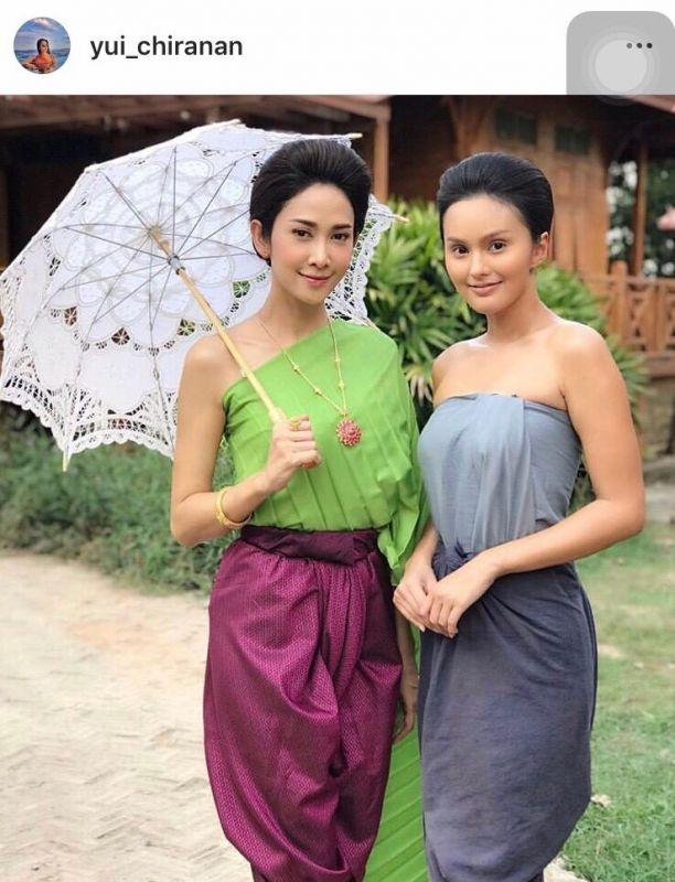 ยุ้ย จีรนันท์ ชุดไทย สวย นักแสดง นางเอก