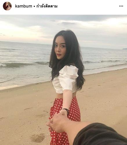 ขุน ชานนท์ แก้มบุ๋ม แฟน ความรัก เที่ยว ชายหาด