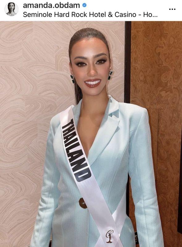 อแมนด้า ออบดัม มิสยูนิเวิร์สไทยแลนด์2020 ไม่โสด วีณา ปวีณา