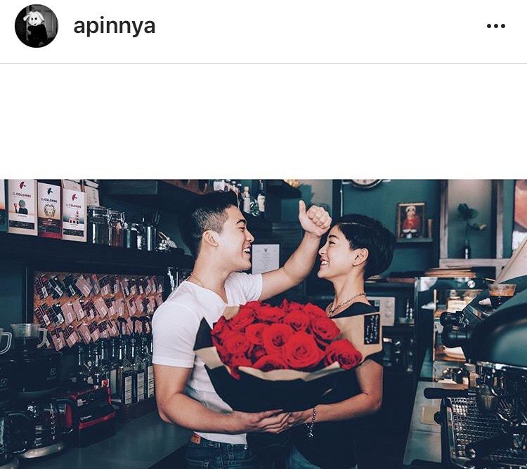 สายป่าน วุฒิ แฟน ความรัก เซอร์ไพรส์ วาเลนไทน์ ดอกไม้
