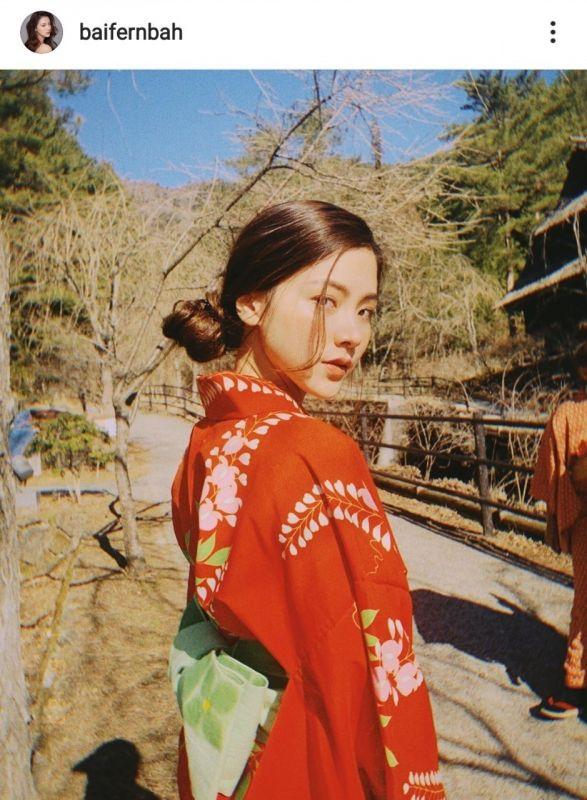 ใบเฟิร์น เที่ยว ญี่ปุ่น ชุดยูกาตะ