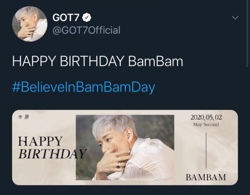 วันเกิด แบมแบม แจกของ #BelieveInBamBamDay