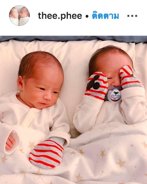น้องธีร์ น้องพีร์ ลูกแฝด บีมออย ไอจี IG