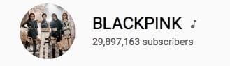 BLACKPINK ผู้ติดตามบน YouTube มากที่สุด