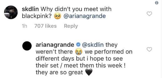 Ariana Grande BLINK BLACKPINK kpop