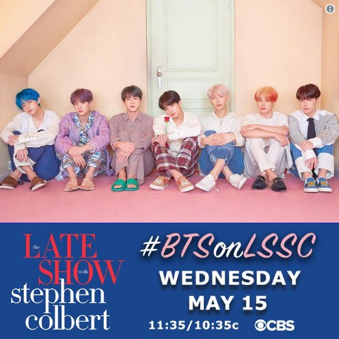 BTS  The Late Show with Stephen Colbert