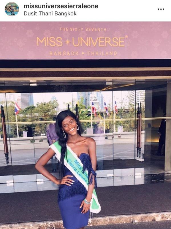 Miss Siera Leone Miss Universe 2018