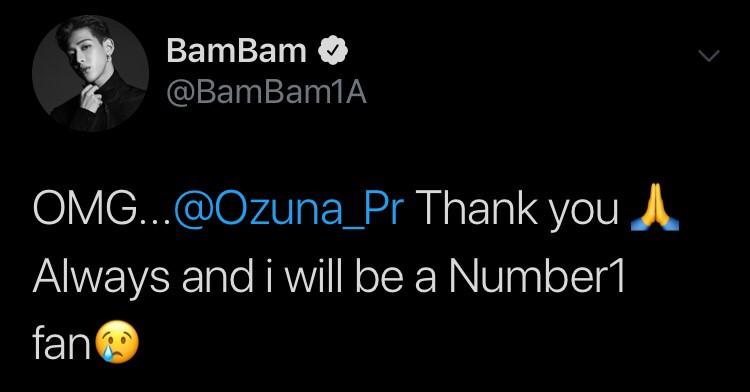 Ozuna แบมแบม GOT7 ฟอลโลว์