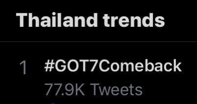 GOT7  Comeback  ปล่อยเพลง