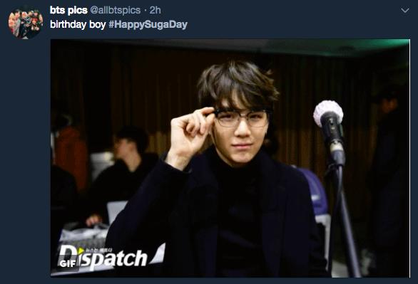 HAPPYSUGADAY GeniusYoongiDay BTS