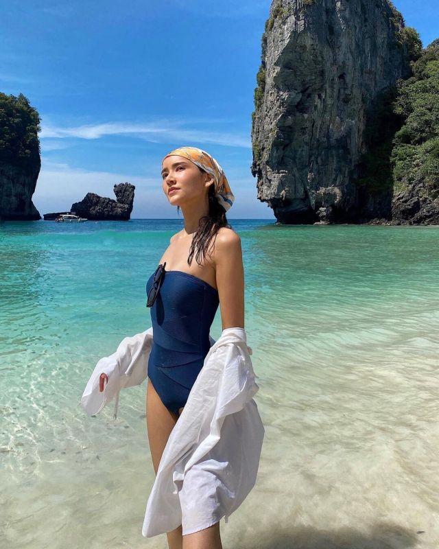 ไอซ์ อมีนา เซ็กซี่ ทะเล ชุดว่ายน้ำ